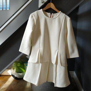 Dresses & Skirts - Bone White Neoprene Dress - 60's inspired BNWOT